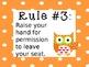 Owl Whole Brain Teaching Rules - Editable (Version 2)