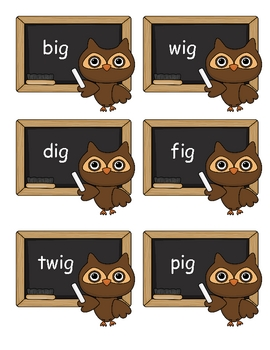 Owl Word Families