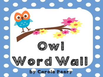 Dolch Word Wall Owls
