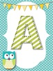 Owl Word Wall Alphabet and Numbers Headings *Polka Dots*
