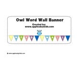 Owl Word Wall Banner