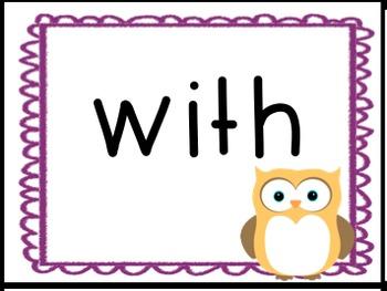 Owl Word Wall Kit