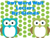 Owl Word Wall Letters
