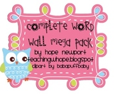 Owl Word Wall Mega Pack