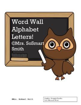 Owl Word Wall Mini Alphabet