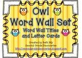 Owl Word Wall Set