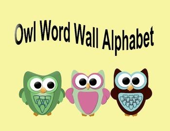 Owl Word wall alphabet/ Flashcards