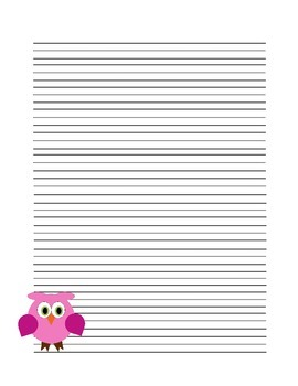 Owl Writing Paper