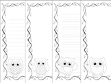 Owl Writing Paper - Black and White - 3 Styles