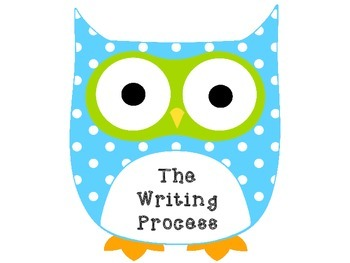 Owl Writing Process Posters - Blue and Green Only