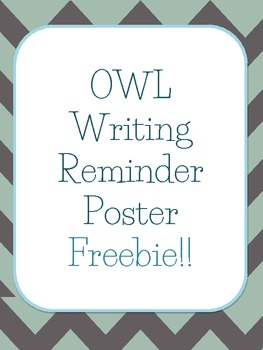Owl Writing Reminders FREEBIE