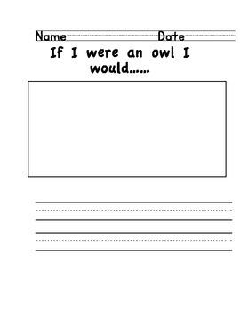 Owl Writing Set