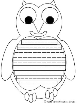Owl Writing Template