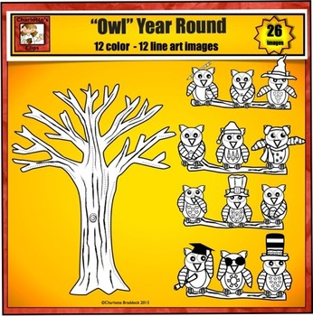 "Owl Clip art to use ""owl"" year long"