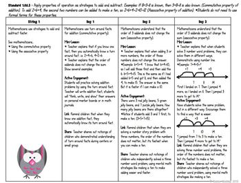 First Grade Operations and Algebraic Thinking Unit of Study