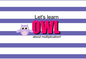 Owl about Multiplication -  two digit by one digit with or