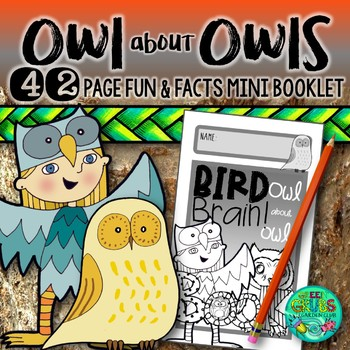 Owl about Owls!  {Fun & facts bird booklet with an owl pel