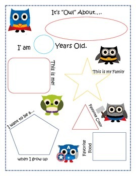 Owl about me Poster