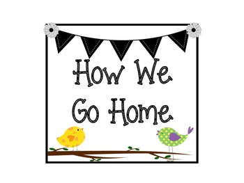 How We Go Home Chart: Bird and Owl Themed