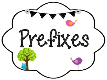Prefixes and Suffixes: Bird and Owl Themed