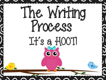Bird and Owl Themed Writing Process Posters