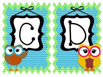 Owl and Chevron Alphabet