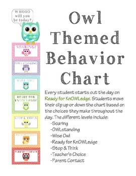 Owl and Chevron Behavior Clip Chart