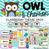 Owl Classroom Decor: Chevron  {Editable}
