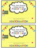 Owl and Chevron First Day of School Certificates {Kindergarten}