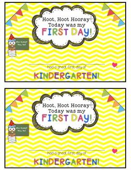 Owl and Chevron First Day of School Certificates {Kindergarten}