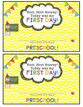 Owl and Chevron First Day of School Certificates {Preschool}