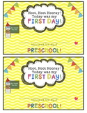 Owl and Chevron First Day of School Certificates {Preschool}