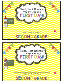 Owl and Chevron First Day of School Certificates {Second Grade}