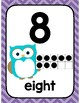 Owl and Chevron Number Set