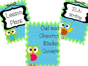 Owl and Chevron Organizational Binders *EDITABLE*