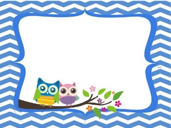 Owl and Chevron Power Point Template