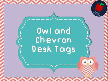 Owl and Chevron Sight Word Wall Words 8 lists