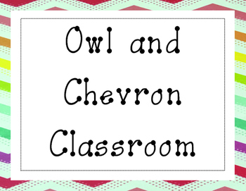 Owl and Chevron Theme Classroom