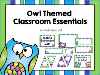 Owl Themed Classroom Essentials