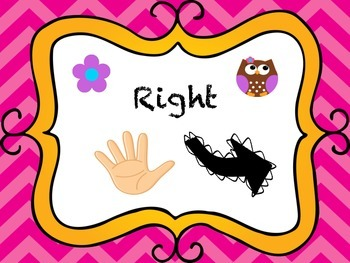 Owl and Chevron Themed Left and Right Posters