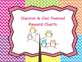 Owl and Chevron Themed Reward Charts