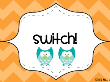 Owl and Chevron Themed Whole Brain Teaching Posters