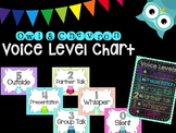 Owl and Chevron Voice Level Chart