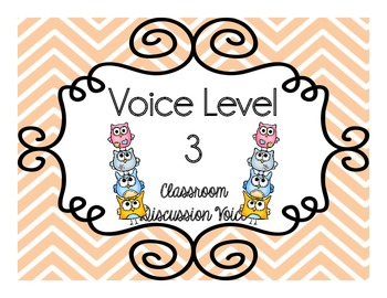 Owl and Chevron Voice Level Poster Pack