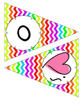Owl and Chevron Whooo Loves Banner