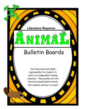 Beaver and Cow Themed Bulletin Boards