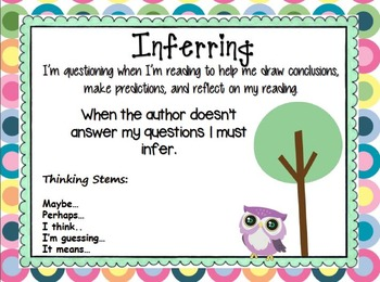 Owl and Dots Comprehension Connection Metacognition Posters