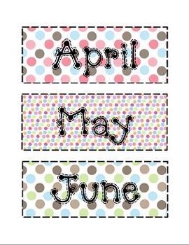 Owl and Fall Theme Calendar