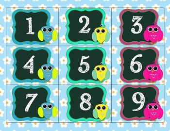 Owl and Flower Dot Owl Calendar Pack