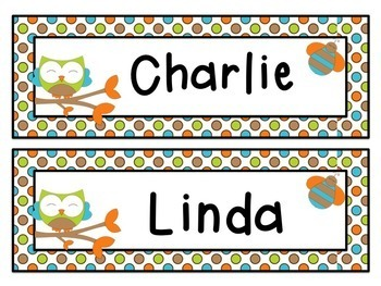 Owl Name Labels {Editable Name Tags and Locker Tub Labels}
